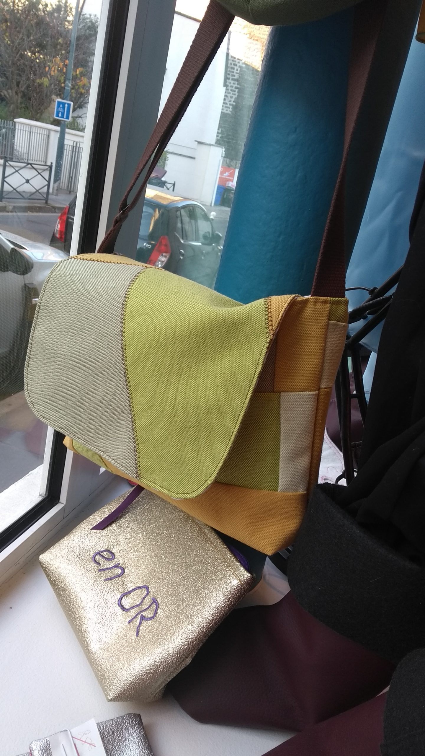 Sac Besace Patchwork